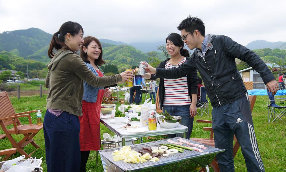 神奈川の体験農園で収穫体験つきバーベキュー